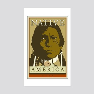 Native America Rectangle Sticker