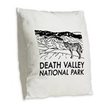 Death Valley National Park Burlap Throw Pillow