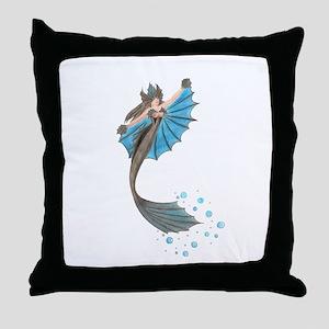 Siren of the Sea Throw Pillow