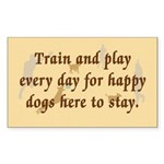 Train and Play Rectangle Sticker 10 pk)