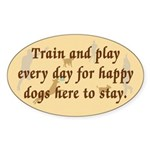 Train and Play Oval Sticker