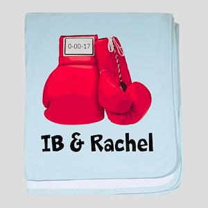 Boxing gloves baby blanket