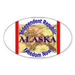 Alaska-3 Oval Sticker (10 pk)