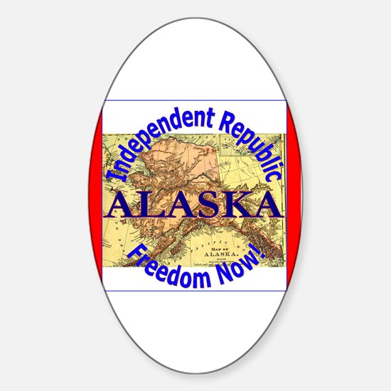 Alaska-3 Oval Decal