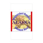 Alaska-3 Rectangle Sticker 50 pk)