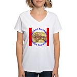Alaska-1 Women's V-Neck T-Shirt