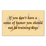 Sense of Humor Rectangle Sticker 50 pk)