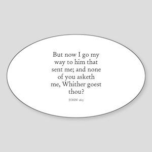 JOHN 16:5 Oval Sticker