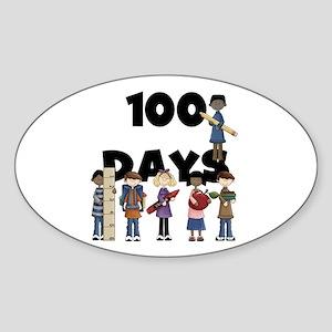 School Children 100 Days Sticker (Oval)