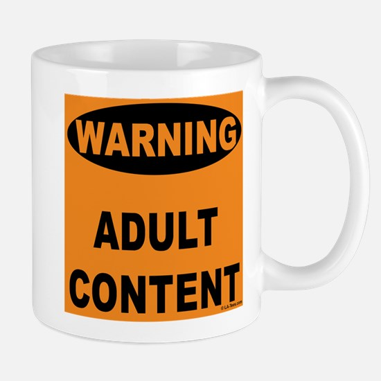 Adult Content Warning Mug