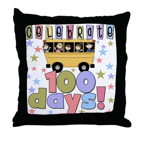 Celebrate 100 Days of School Throw Pillow