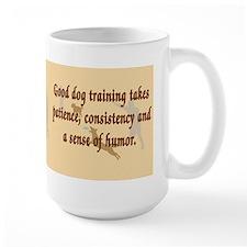 Good Dog Training Large Mug