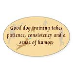 Good Dog Training Oval Sticker