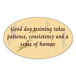 Good Dog Training Oval Sticker (10 pk)