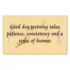 Good Dog Training Rectangle Sticker