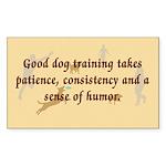 Good Dog Training Rectangle Sticker 50 pk)