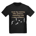 Good Dog Training Kids Dark T-Shirt