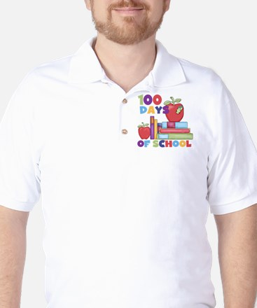 Books 100 Days Golf Shirt
