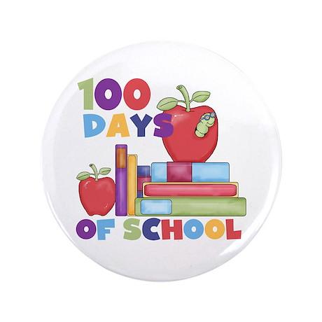 "Books 100 Days 3.5"" Button"