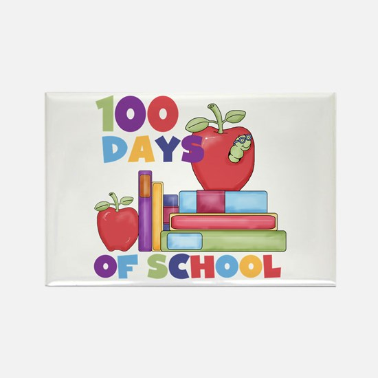 Books 100 Days Rectangle Magnet