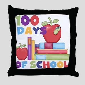 Books 100 Days Throw Pillow