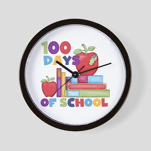 Books 100 Days Wall Clock
