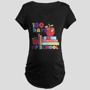 Books 100 Days Maternity Dark T-Shirt
