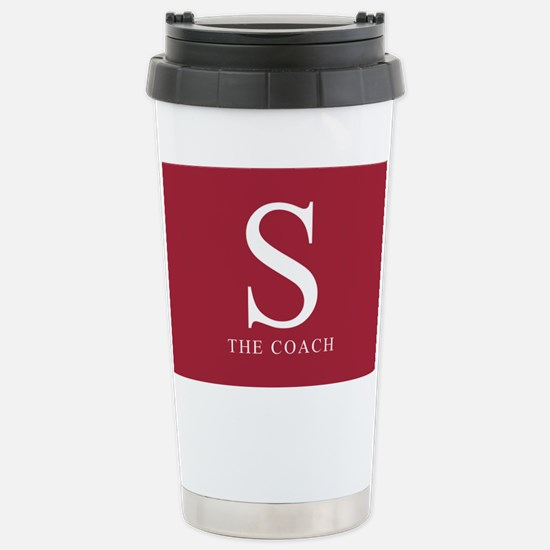 S The Coach Stainless Steel Travel Mug