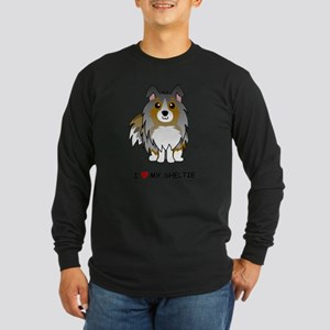 Blue Merle Sheltie Long Sleeve T-Shirt
