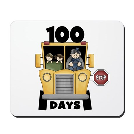 School Bus 100 Days Mousepad