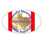 Texas-1 Oval Sticker (10 pk)