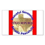 Texas-1 Rectangle Sticker 10 pk)
