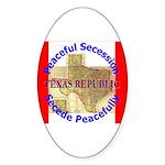 Texas-1 Oval Sticker (50 pk)