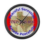Texas-1 Large Wall Clock