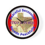 Texas-1 Wall Clock