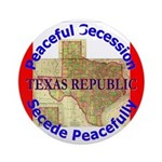 Texas-1 Ornament (Round)