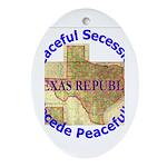 Texas-1 Oval Ornament