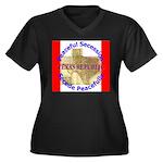 Texas-1 Women's Plus Size V-Neck Dark T-Shirt