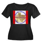 Texas-1 Women's Plus Size Scoop Neck Dark T-Shirt