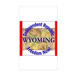Wyoming-3 Rectangle Sticker