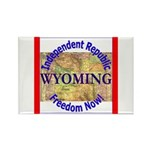 Wyoming-3 Rectangle Magnet (100 pack)