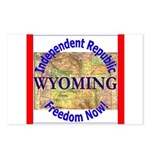 Wyoming-3 Postcards (Package of 8)