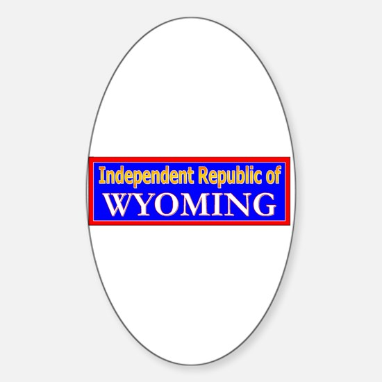 Wyoming-2 Oval Decal
