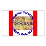 Wyoming-1 Rectangle Sticker