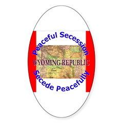 Wyoming-1 Oval Sticker (50 pk)