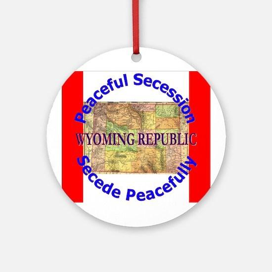 Wyoming-1 Ornament (Round)