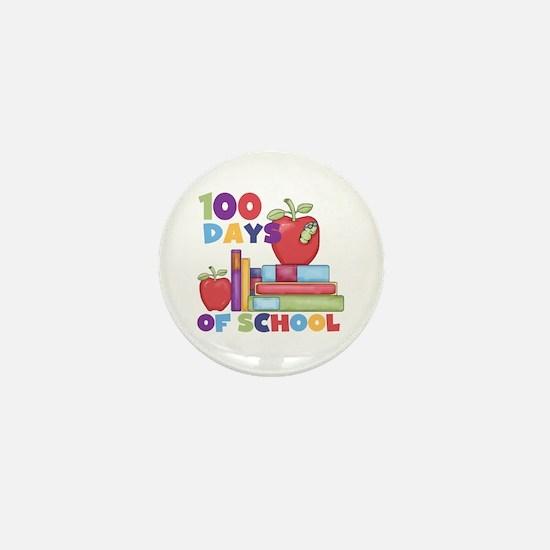 Books 100 Days of School Mini Button