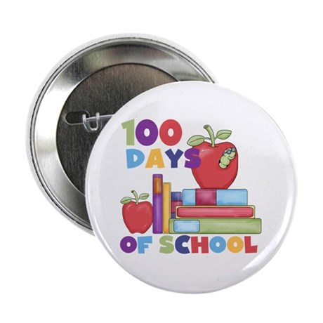 """Books 100 Days of School 2.25"""" Button (100 pack)"""