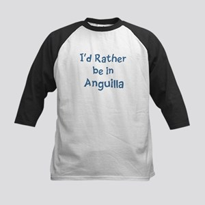 Rather be in Anguilla Kids Baseball Jersey
