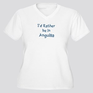 Rather be in Anguilla Women's Plus Size V-Neck T-S